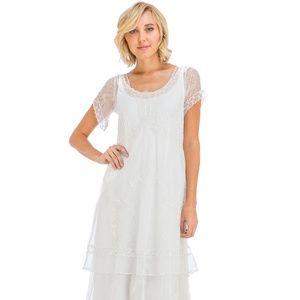 Nataya VIntage Inspired Ivory Dress-Size M